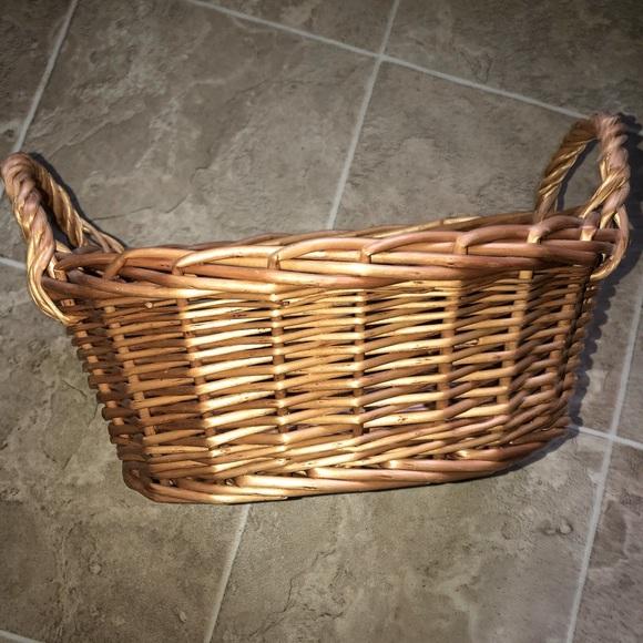 Boho vintage oval woven Basket